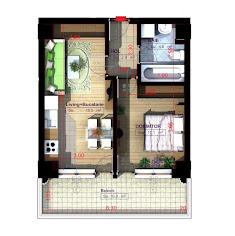 Royal Town Copou - Apartament 2 camere-semi - 46,60 mp