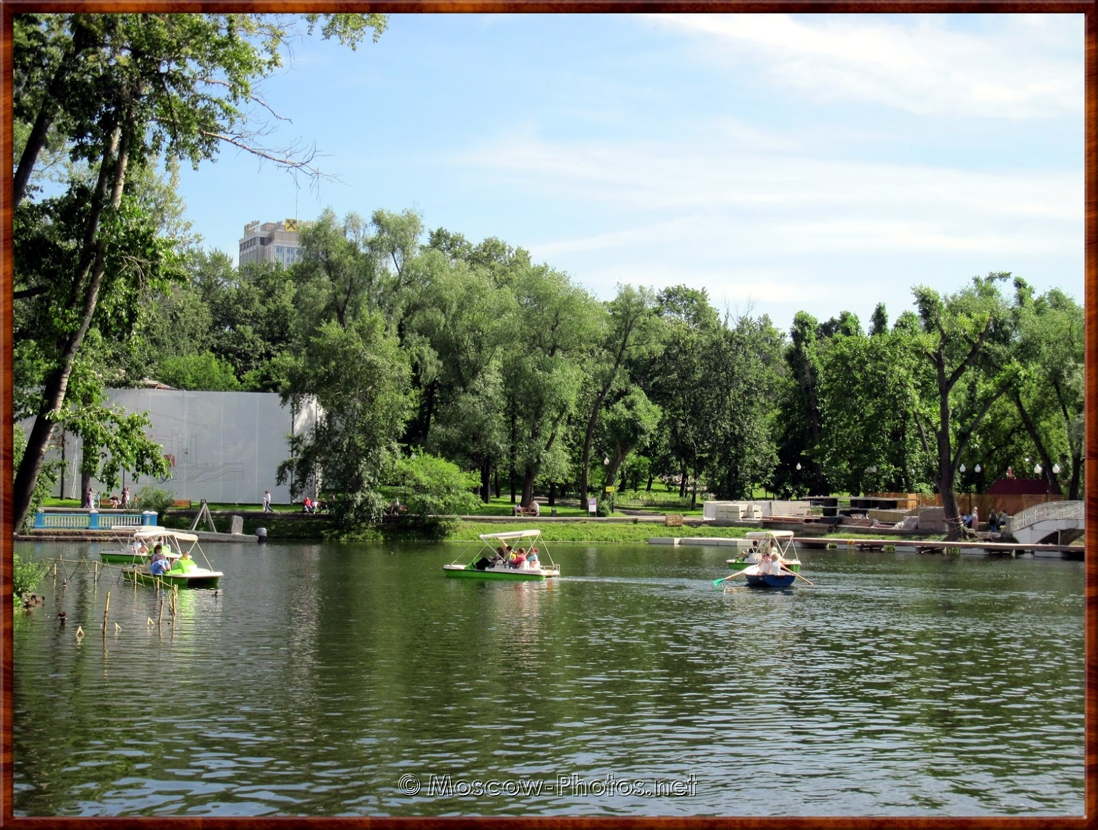 Pond In Gorky Central Park of Culture and Leisure