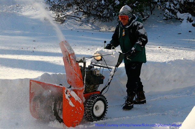 How phyiscal is clearing sidewalk of snow ice