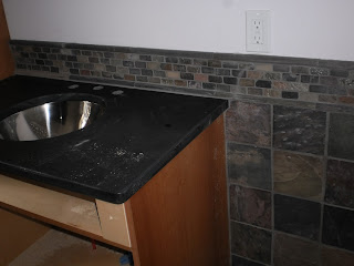 Wall Slate and Sink Backsplash