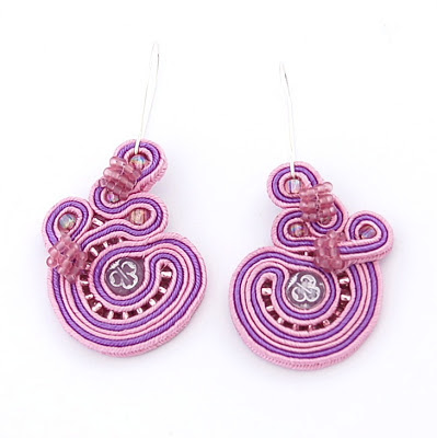 sutasz kolczyki soutache earrings 22a