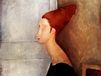 Portrait de Jeanne Hébuterne assise de profil, Modigliani