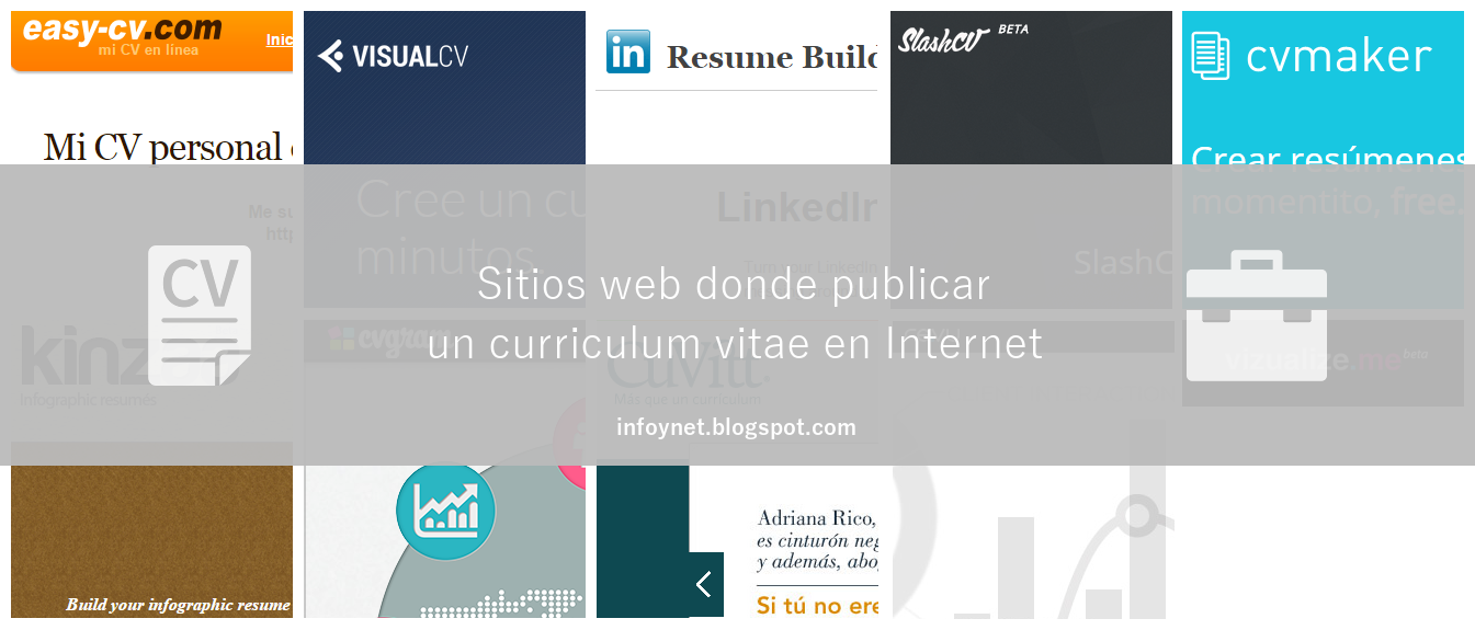 Sitios web donde publicar un curriculum vitae en Internet
