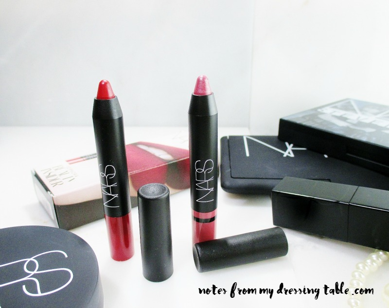 Nars Velvet Matte and Satin Lip Pencils notesfrommydressingtable.com
