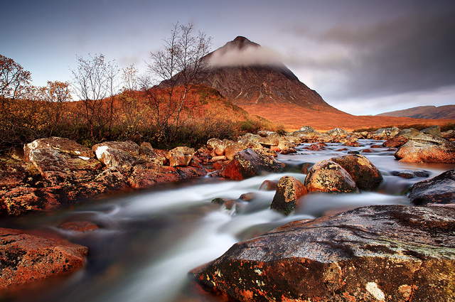 Beautiful Scenery - Dawn light in Glencoe by Angus Clyne