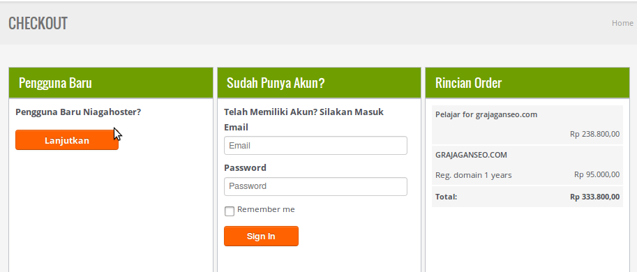 Domain tersedia di Niagahoster