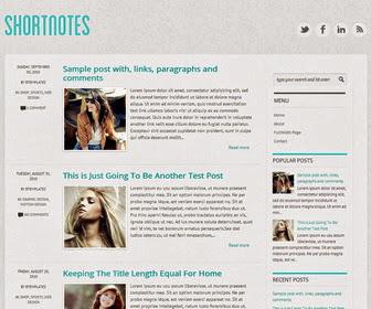 Shortnotes Responsive Blogger Template
