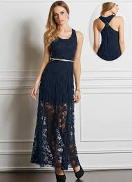 modelo de vestido de renda azul - fotos e dicas