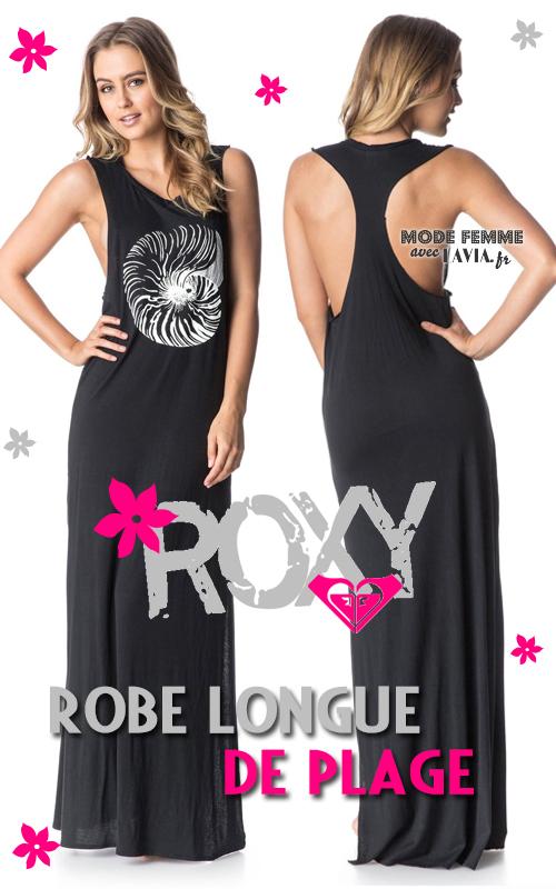 Robe de plage noire ROXY