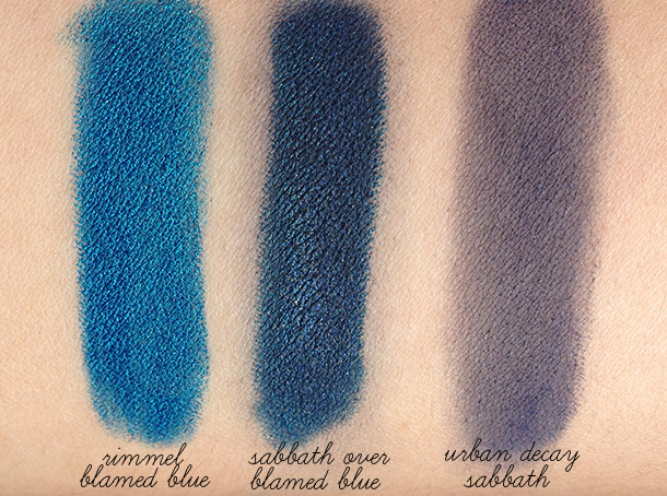 rimmel scandaleyes blamed blue review swatch