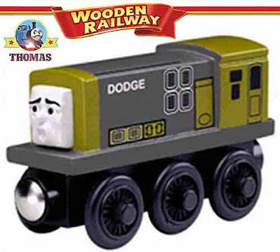 Childrens movie Day of the Diesels Toy wooden railway Thomas the train Dodge the Diesel character