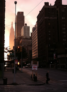 new york empire state building sunrise