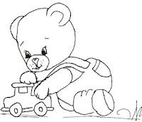 ursinho com carrinho