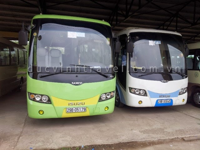 Cho thuê xe ô tô 35 chỗ Isuzu Samco có lái tại Hà Nội
