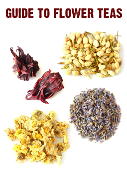 different types of flower teas