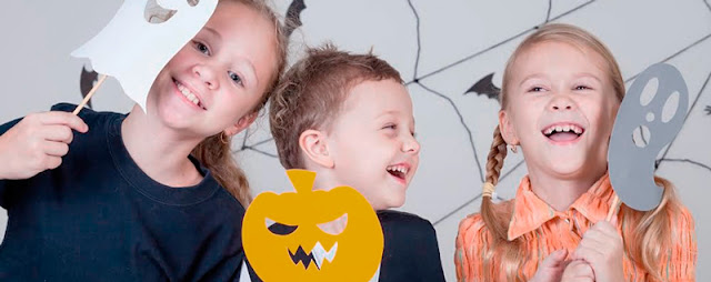 caretas de halloween para photocall gratis