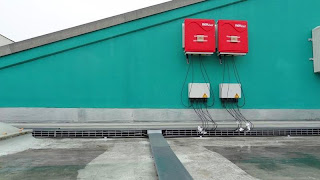 Inverters and DC Cables on Solar Farm