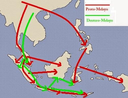peta persebaran nenek moyang indonesia