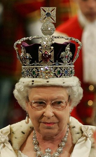 Elizabeth II  wearing the same crown on herQueen Elizabeth Crown