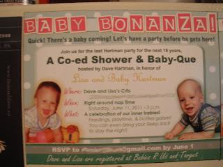 the new hartman baby bonanza a co ed baby shower