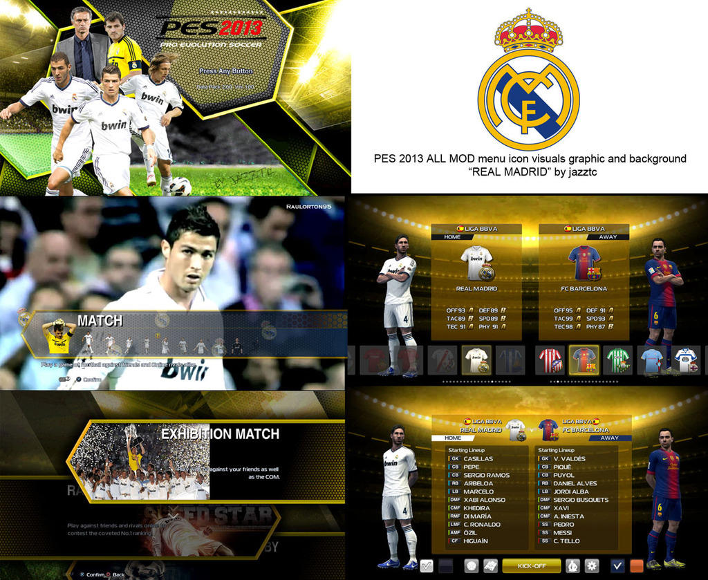 Download All Mods Graphic Real Madrid PES 2013