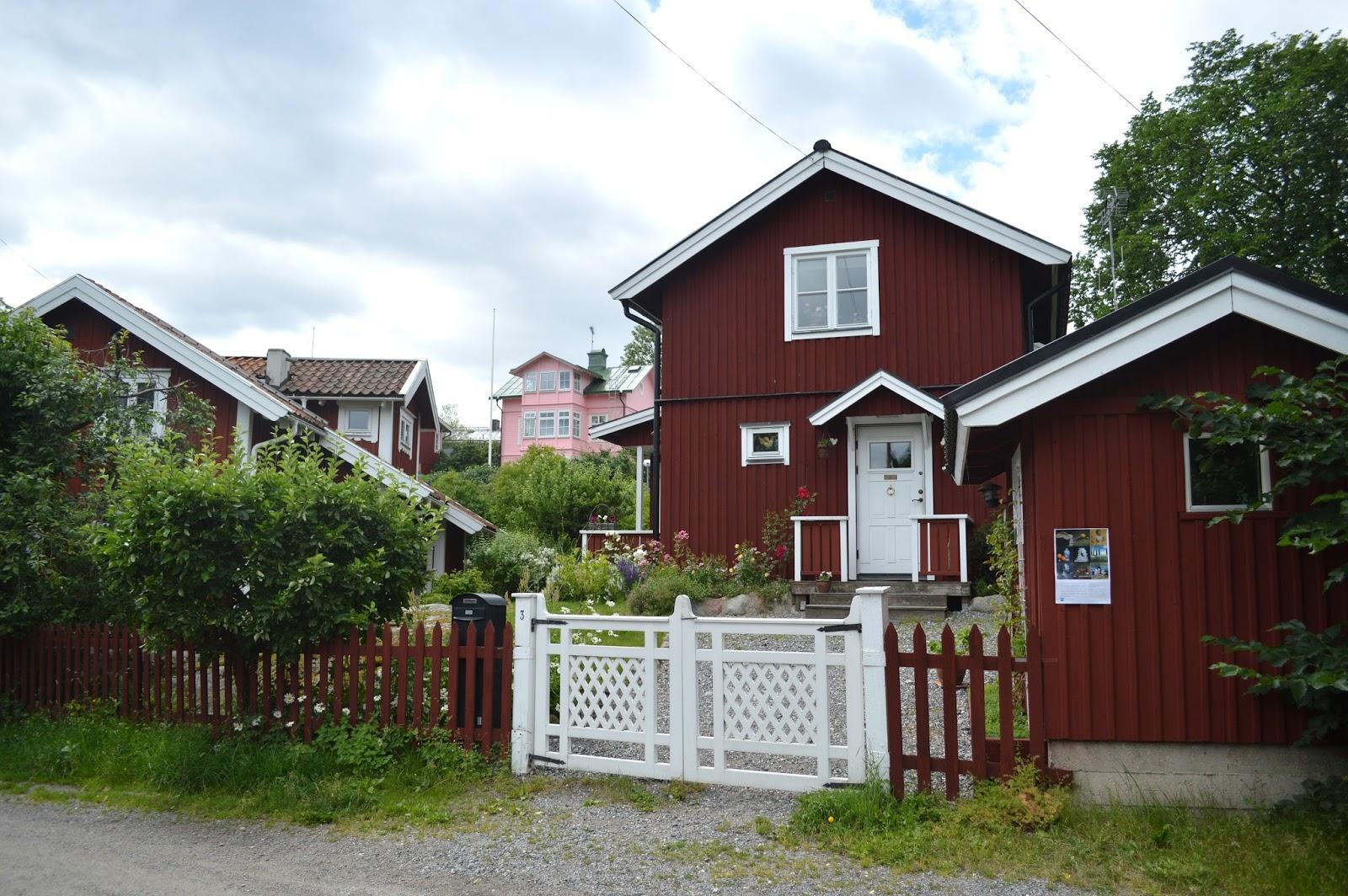 Houses in Vaxholm Stockholm archipelago