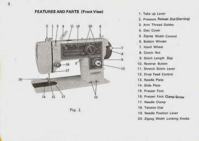 sew machine manual