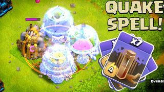 Cara Menggunakan Earthquake Spell di Game Clash Of Clans