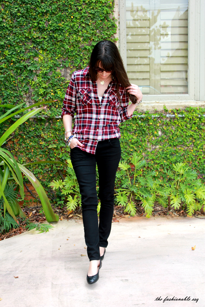 how to style plaid tartan