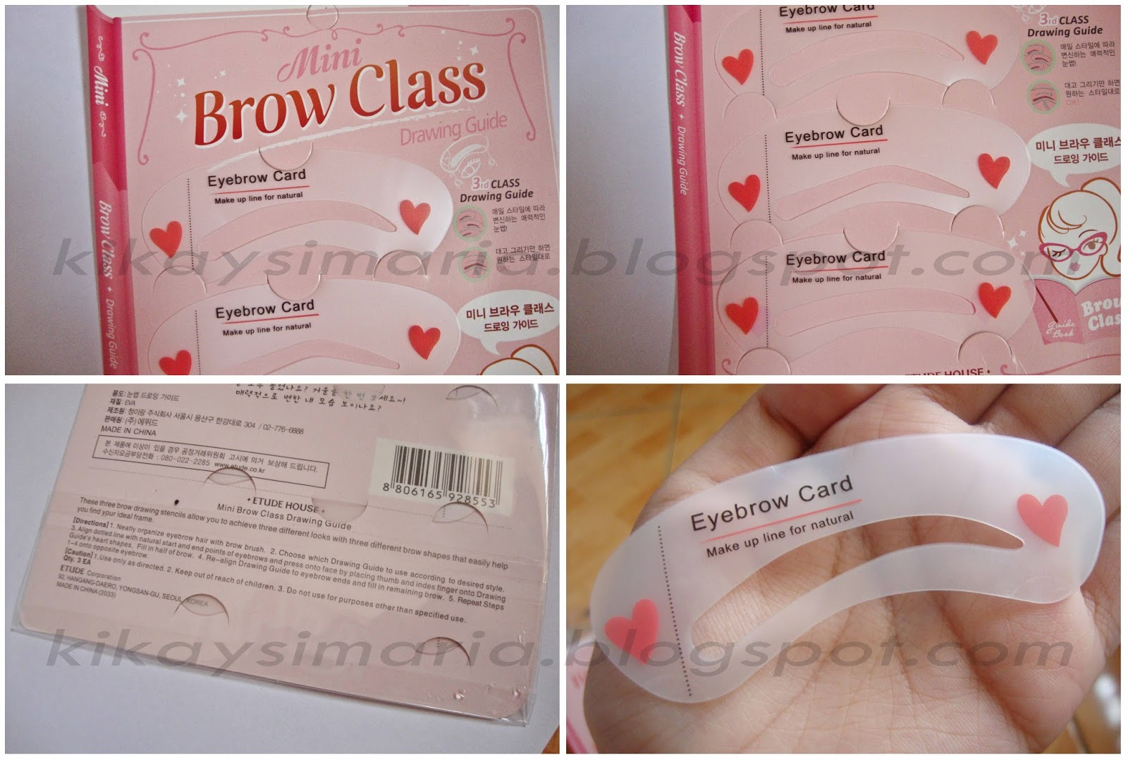 KIKAYSIMARIA: How to Shape and Groom Eyebrows using Stencils