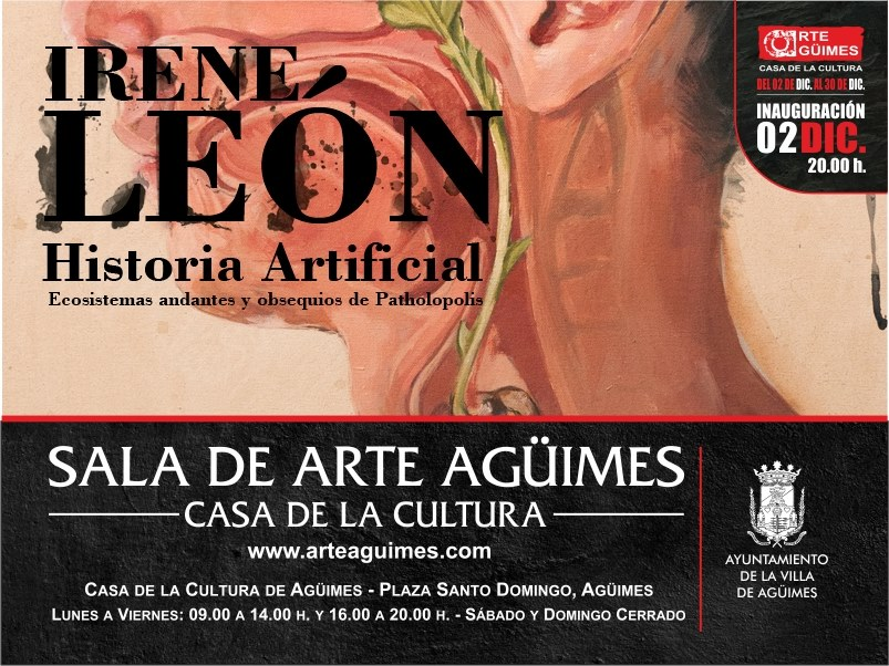 """Historia Artificial"" de Irene León en la Sala de Arte Agüimes"