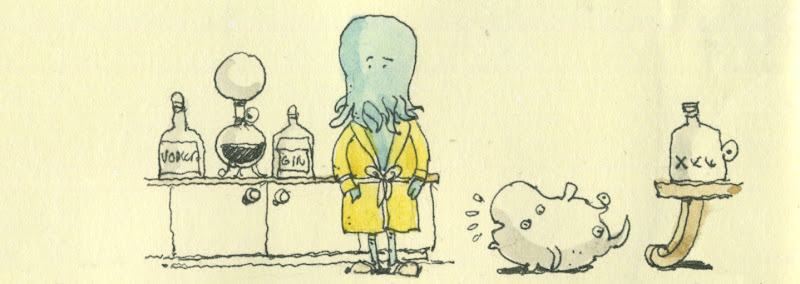 cthulhu in kitchen
