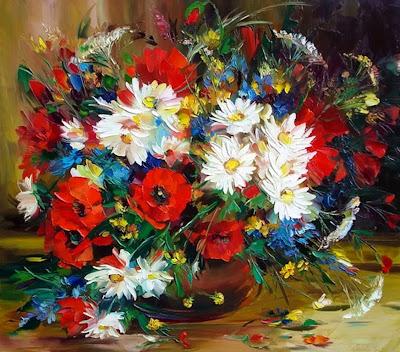 oleo-con-flores