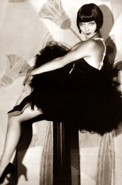 Louise Brooks #1920s #dress #tulle #black #20s #fashion