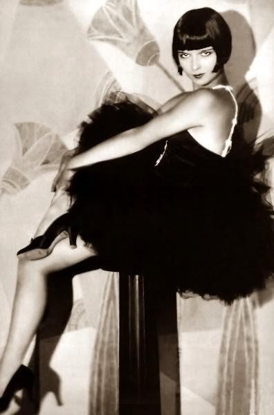 Louise Brooks #1920s #dress #tulle #black #20s #fashion