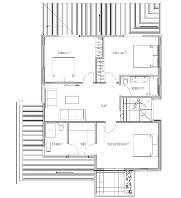 Affordable home plans affordable modern house plan ch111 for Affordable housing floor plans