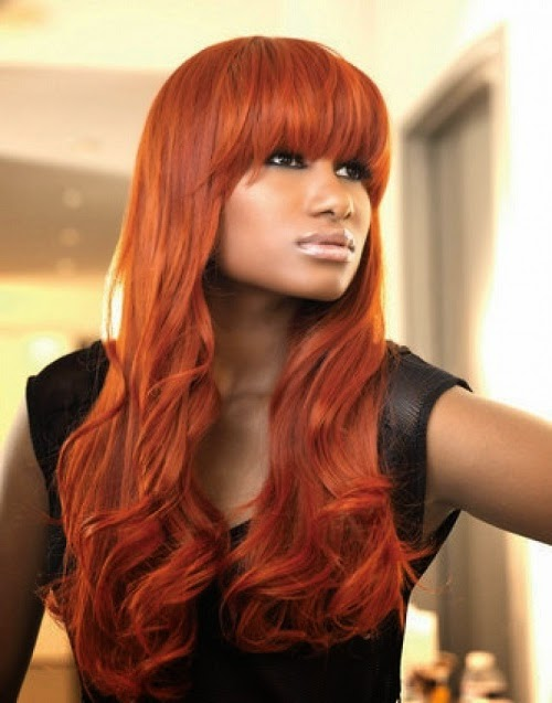 Darker Skin Tones Will Surely Suit A Bright Red Hair Color Appear Stunning With Medium Auburn To Chestnut Brown Shade