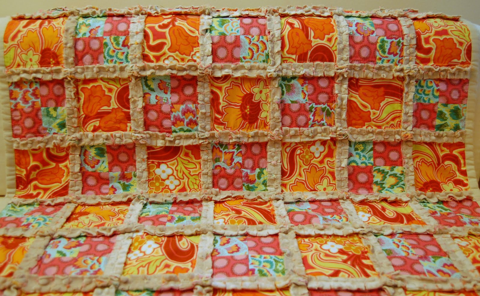 The Best Me: Making Room Phase 2 {Minky Rag Quilt} : rag quilt with cotton fabric - Adamdwight.com