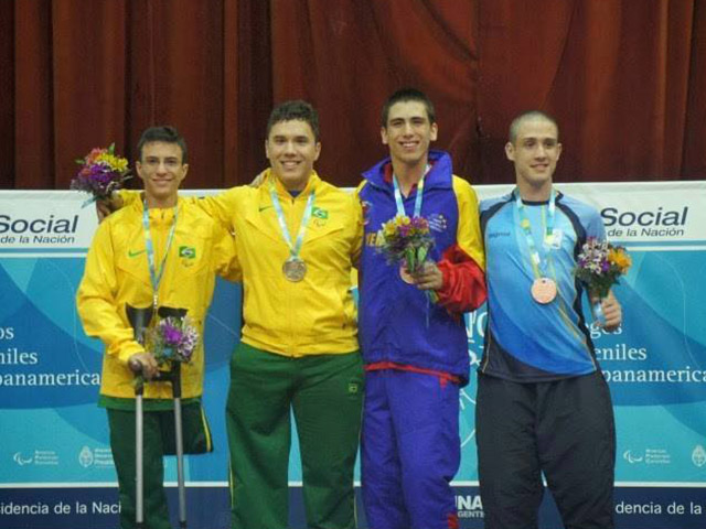 Felipe Formentim conquistou medalha de ouro nos jogos Pan-Americanos Juvenis, em 2013. Foto: Arquivo pessoal