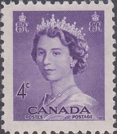 Image result for 1953 canadian stamp
