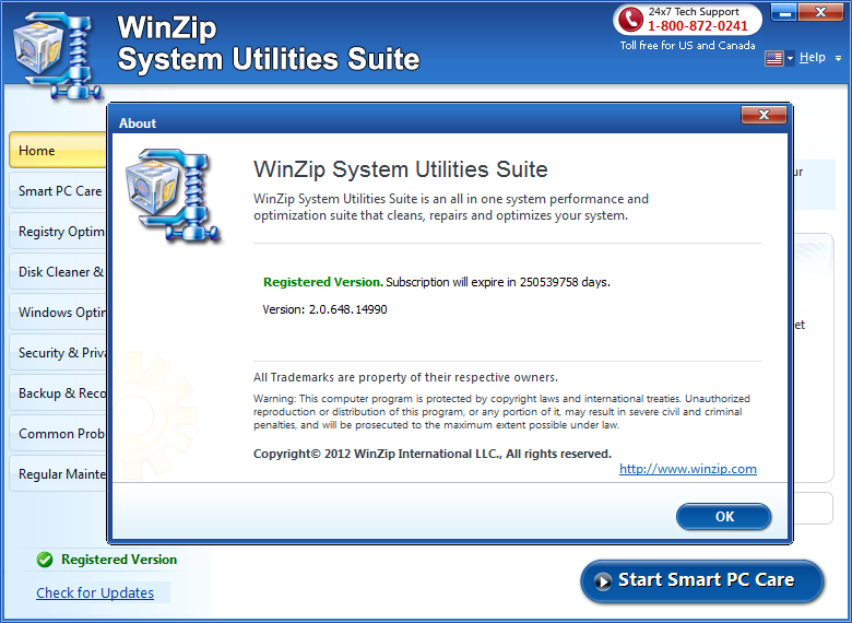 WinZip System Utilities Suite 2.0.648.14990 Final Full Version ...