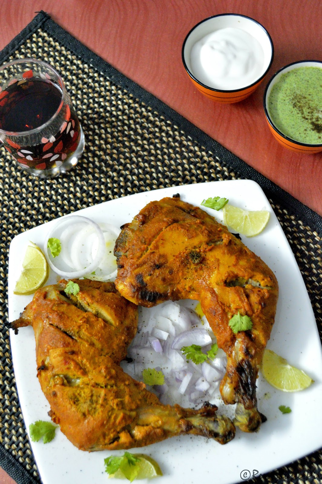 Tandoori Chicken Recipe,How to make tandoori chicken using microwave oven at home, Non Vegetarian Recipes, easy non veg starter recipe, microwave cooking,microwave oven recipes, easy tandoori chicken.