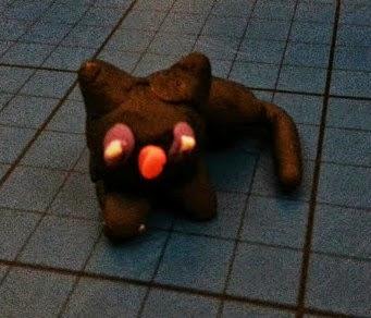 Pay-Doh Halloween model cat