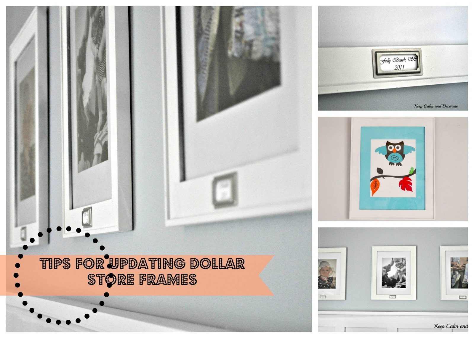 Keep calm and decorate updating dollar store frames for Best places to buy picture frames