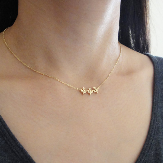 Trio Gold Necklace