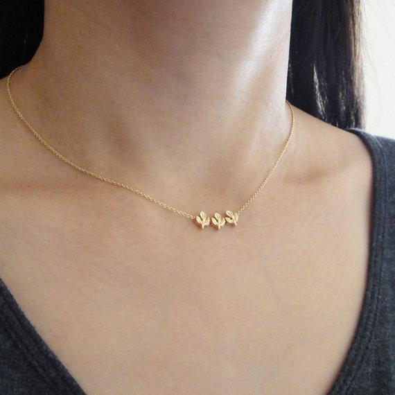 Trio Gold Necklace