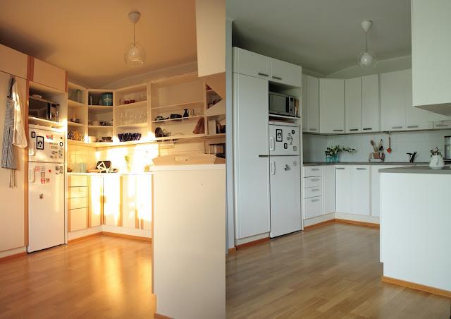 Melkein kuin uusi Minibudjetin keittiöremppa #6  Ennen ja jälkeen