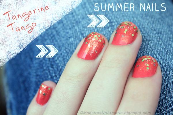 Summer Nails 2012 - Tango Tangerine