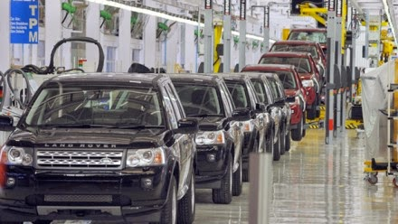 Land Rover Factory in the UK
