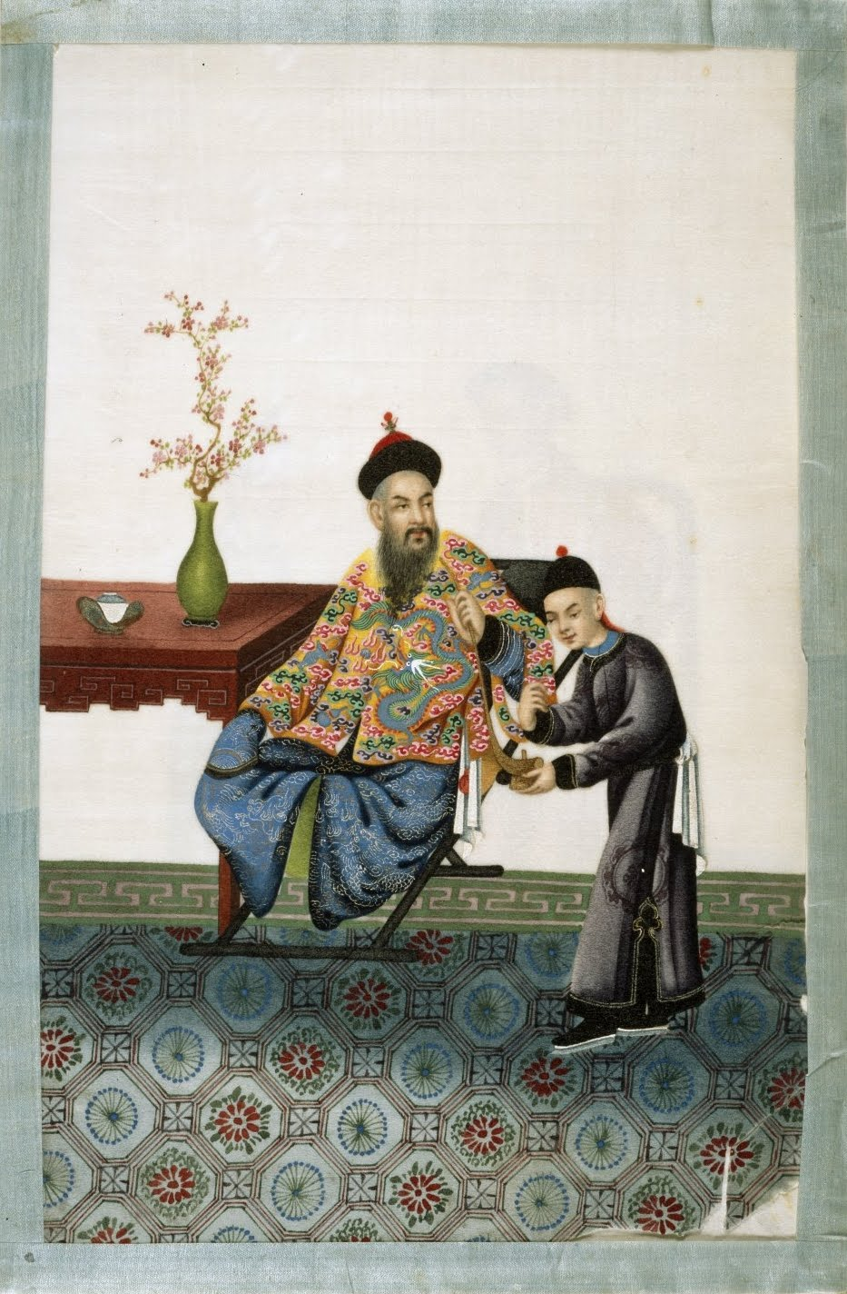 noble Chinaman and court attendant